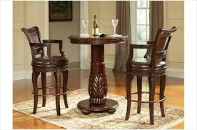 round bistro table set buy 3 pc antoinette pub table set in cherry mahogany finish for