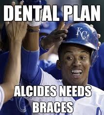 Braces Meme - 9b750 alcides escobar braces meme royaleswithcheese 皓 cespedes