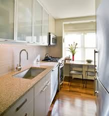 breakfast bar kitchen window white gloss wood countertops wooden