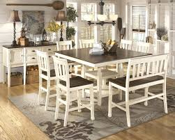 tall dining room sets dining room table bench seat plans tables one side counter height