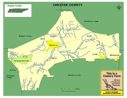 Tennessee State Map by Chester County Tennessee Century Farms