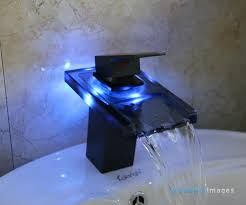 Bathroom Fixtures Wholesale Rubbed Bronze Led Color Changing Bathroom Sink Faucet