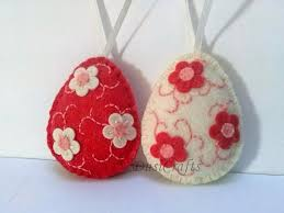 felt easter decoration felt egg with bunny and butterflies or