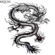 large size dragon tattoos for cool man animal totem waterproof