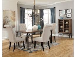 signature design by ashley tripton 5 piece rectangular dining room tripton 5 piece rectangular dining room table set w wood top metal legs by signature design by ashley