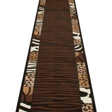 Leopard Print Runner Rug Polypropylene Animal Print Modern Runner Rugs Ebay