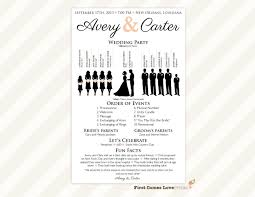 one page wedding program template wedding one page wedding program template amazing free templates