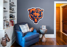 100 chicago bears home decor accessories fetching images chicago bears home decor chicago bears bear head logo wall decal shop fathead for