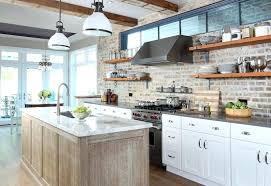 brick backsplash in kitchen brick backsplash kitchen modern kitchen modern brick kitchen ideas