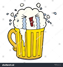 beer cartoon cartoon mug beer crying stock vector 652312174 shutterstock