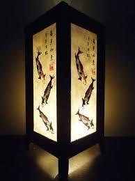 japanese lantern table l thai vintage handmade asian oriental 3 lucky koi fish japanese art