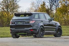 land rover evoque black modified lumma clr sv body styling kit for the range rover sport topcar