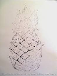 serena lewis how to sketch a pineapple