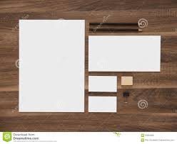 Business Card And Letterhead Letterhead Envelope And Blank Business Cards On Stock Photo
