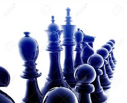Metal Chess Set by Chess Set Pieces Illustration Glossy Chrome Metal Style Stock