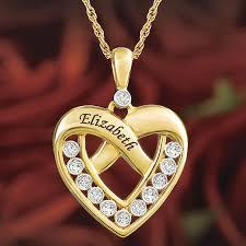 a dozen diamonds personalized heart pendant the danbury mint