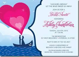 Nautical Bridal Shower Invitations Bridal Shower Invitations Easyday