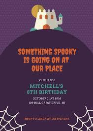 purple halloween birthday party invitation templates by canva