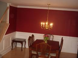 dining room colors with chair rail design dining room color