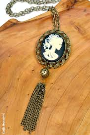 diy halloween necklace skeleton cameo crafts unleashed