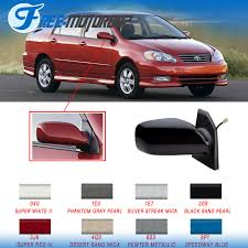 painted fit 03 08 toyota corolla passenger power side view mirror
