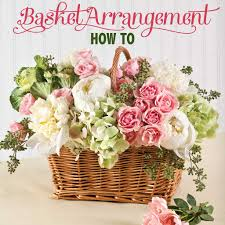 flower basket basket flower arrangement step by step