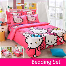 Hello Kitty Duvet Wholesale Brand Logo Hello Kitty Bedding Set Children Cotton Bed