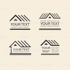 house logo template vector property icon for your design stock