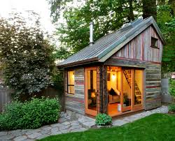 Rustic Backyard Ideas Rustic And Beautiful Backyard Micro House Is Built From Recycled