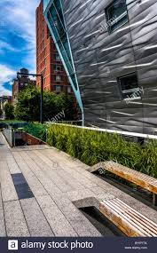 modern buildings along the high line in manhattan new york stock