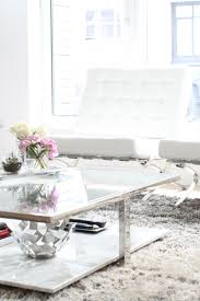 White Leather Accent Chair Living Room Tour Fashionable Hostess Fashionable Hostess