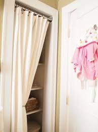 Small Door Curtains Organized Closet With Curtain Instead Of Small Door Did This To
