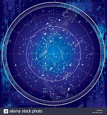 Northern Hemisphere Map Celestial Map Of The Night Sky Astronomical Chart Of Northern