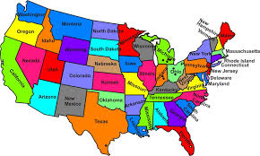 usa map kindergarten west to east state license plates
