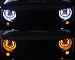 led jeep wrangler headlights 7 80w led headlights with halo for 97 17 wrangler xprite