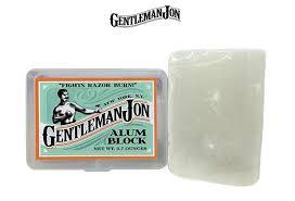 buy alum block gentleman jon 3 7 ounce alum block in plastic