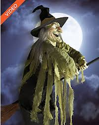 Flying Witch Decoration Halloween Decorations Buy An Animated Halloween Decoration