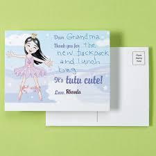 kids ballerina thank you postcards current catalog