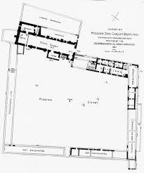 mission santa cruz floor plan impressive drawings of carmel layout