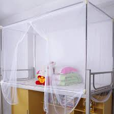 Twin Bed Canopies by White Four Corner Post Canopy Bed Mosquito Net Twin Queen King