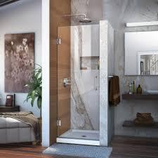 25 Shower Door Dreamline Unidoor 25 In X 72 In Frameless Hinged Pivot Shower