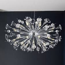 Crystal And Chrome Chandelier Collection 24 Light Chrome Finish And Clear Crystal Chandelier