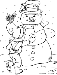 Snowman Winter Coloring Pages Coloring Pages For Kids Free Winter Coloring Pages Free