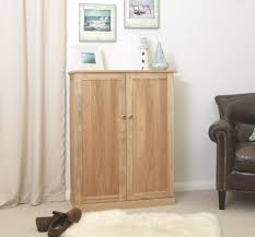 Large Shoe Cabinet With Doors by Nara Solid Oak Hallway Patio Furniture Large Shoe Storage Cupboard