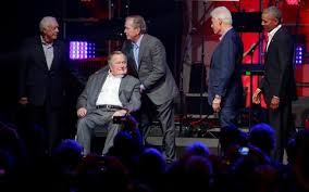 first five presidents five living former presidents appear together for first time since
