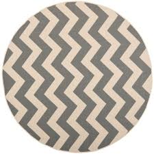 Round Indoor Outdoor Rug Safavieh Courtyard Gray Beige 4 Ft X 4 Ft Indoor Outdoor Round