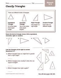 classify triangles reteach 4th 5th grade worksheet lesson planet