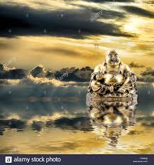 Feng Shui Feng Shui Background Laughing Buddha Or Budai Is Reflected In