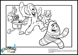 yo gabba gabba coloring pages minister coloring