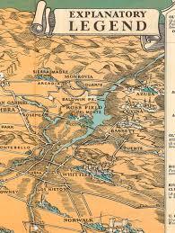 Map Of La Area East San Gabriel Valley Puente Area Vintage Maps 1932 Cropped